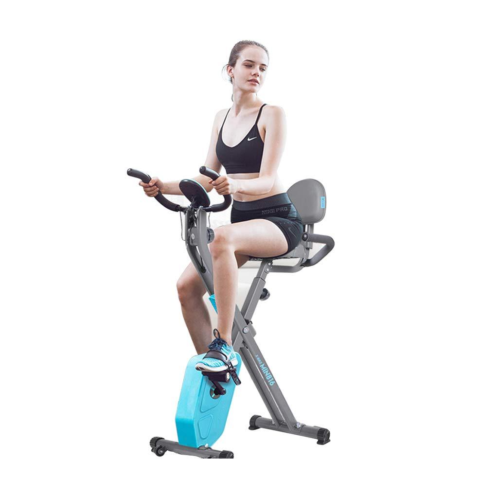 Fitness Bike Spinning Fahrrad Hause stummschalten Indoor magnetische Steuerung Auto Pedal Sport Fahrrad Fahrrad Ausdauertraining (Farbe   Blau, Größe   75  51  115cm)