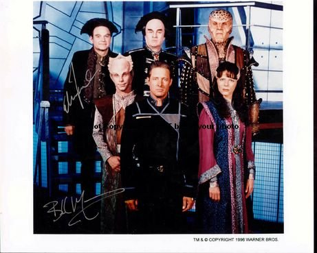 Babylon 5 Star Trek Autographed Preprint Signed 11x14 Poster Photo