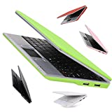 Goldengulf 7-Inch Latest Mini Computer Laptop PC Netbook for Children Android 4.4 Jelly Bean 4GB With Optical Mouse WIFI Built In Camera Netflix YouTube HDMI Port Flash Player (green)