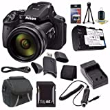 6Ave Nikon COOLPIX P900 16MP Digital Camera (International Model No Warranty) + EN-EL23 Battery + External Charger + 16GB SDHC Card + Case + Mini HDMI Cable + Card Reader + Card Wallet Saver Bundle For Sale