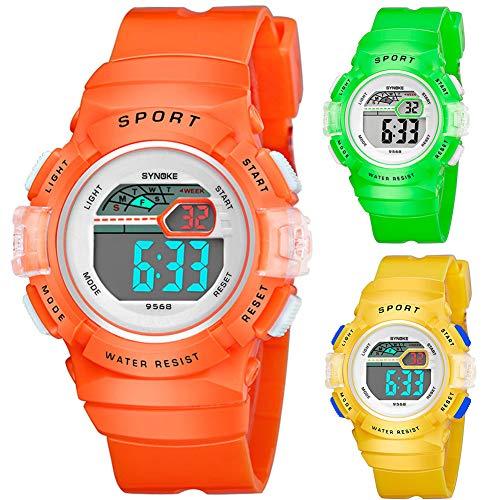 Multifunction Alarm Weekday Stopwatch Kids Sports Digital Luminous Wrist Watch by Gaweb (Image #3)