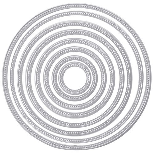 Hunulu Circle Round Metal Dies Stencils Cutting DIY Scrapbooking Embossing Decor (Circle Cards)