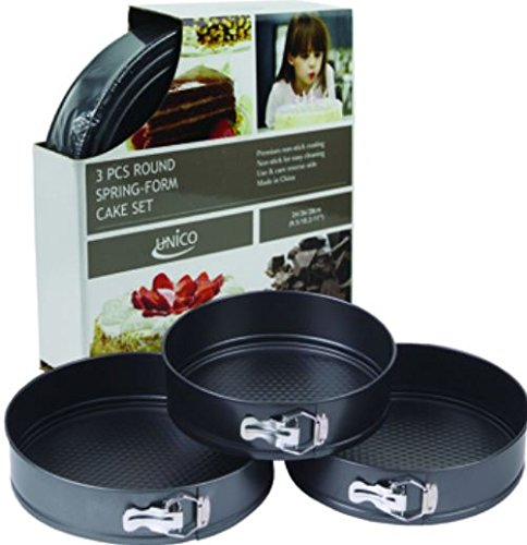 K&A Company Round Springform Pan Set Case Pack 12 3 Piece New Non Stick Coating Heavy Duty