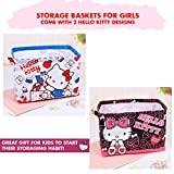hello kitty storage bin - Hello Kitty Merchandise : Storage Baskets for Girls and Come with Two Characters Designs. Use as Babies Storage Bins (Hello Kitty)