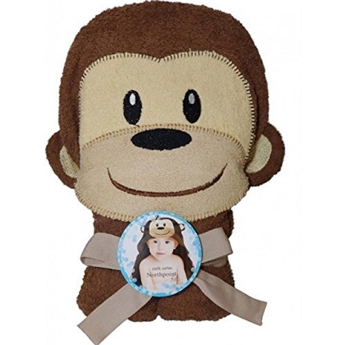 Northpoint Kids Cotton Animal Character Towels, hooded bath towels, Monkey - Northpoint Kids
