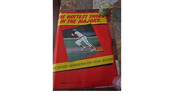 1980s Ricky Henderson Oakland Athletics Mizuno poster at ...