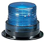 Federal Signal LP6-012-048B Streamline Low Profile Mini Strobe Light, Surface Mount, 12-48 VDC, Blue