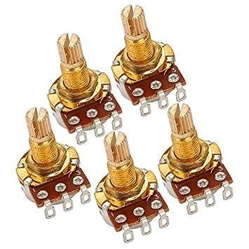 Potenciómetro de control de volumen de guitarra eléctrica con eje de 18 mm, B250 K, 5 unidades: Amazon.es: Instrumentos musicales