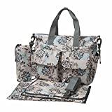 ECOSUSI Handy Baby Nappy Changing Bags Wipable Totes 4pcs Deluxe Changing Tote Mummy Handbags Beige