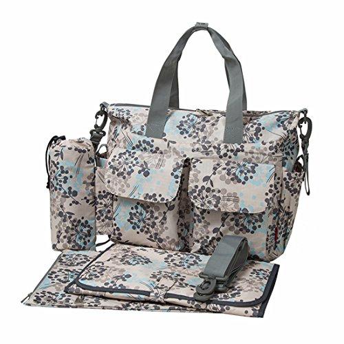 ECOSUSI Diaper Bag Deluxe Designer Changing Tote Bags Mummy