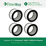 4 - Honeywell 24000 / 24500 Air Cleaner Replacement HEPA Filters. Designed by FilterBuy in the USA.