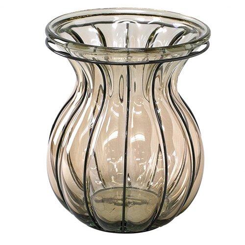 SPICE リサイクルガラスフラワーベース VEINTIUNO ブラウン VALENCIA VGGN1210BR B071YMQ681ブラウン