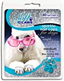 Soft Claws Nail Caps for Dogs Blue Sparkle, Small