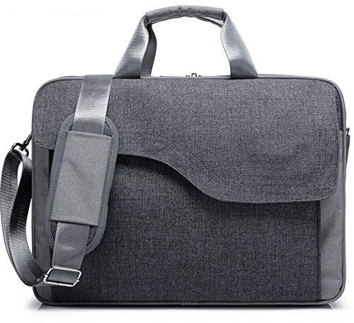 Price comparison product image eBuymore Gray Briefcase Shoulder Messenger Bag Case for Dell Precision 7730 / Inspiron 17 5770 / Acer Predator Helios 500 / Aspire 5 (2018) / Alienware 17 R5 / MSI GT75 Titan 17.3 Laptops