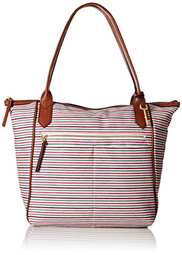Fossil Fiona Tote Bag, Colorful Stripes