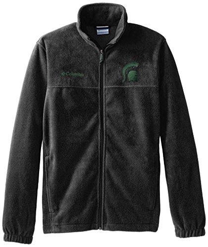 NCAA Michigan State Spartans Collegiate Flanker II Full Zip Fleece Jacket, Charcoal Heather, Large