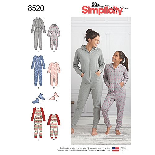 - Simplicity Creative Patterns US8520A Sewing Pattern Sleepwear, A (A (S - L/X-Small - X-Large)