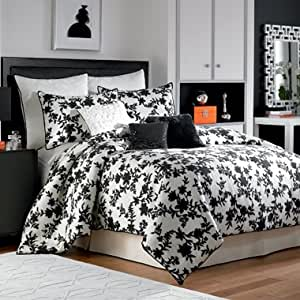 Amazon Com Nicole Miller Silhouette King Comforter Set