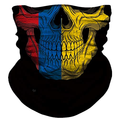 LAOKE Neck Gaiter Headwear Face Sun Mask Magic Scarf Bandana Balaclava Headband for Cycling Fishing Motorcycling Running Skateboarding Moisture Wicking UV Protection (B-PL180766)