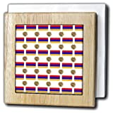 3dRose 777images Flag and Crest Patterns - The flag and Coat of Arms of the Republic of Armenia make a colorful patriotic Armenian pattern. - 6 inch tile napkin holder (nh_63234_1)