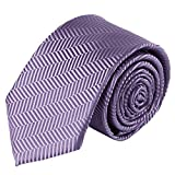 Jacob Alexander Boys Tone on Tone Herringbone Neck Tie - Lavender