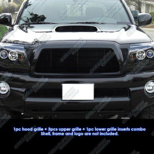 APS 05-10 Toyota Tacoma TRD Sport Black Billet Grille Grill Combo Insert