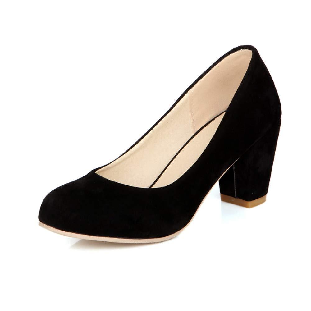 Ai Ya-liangxie Plus Größe 31-47 Der Dropship Frauen Schuhe Frau Dame Chunky High Heels Schuhe Elegante Büro Dame Frau Frau Pumpen 4bcb5f