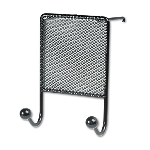 Fellowes Mesh Partition Additions Double Coat Hook - 2 HookMetal - Black (Fellowes Additions Hook Coat Partition)