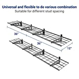 FLEXIMOUNTS 4-Pack Wall Shelf Garage Storage Rack