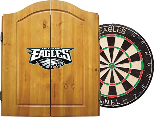 Philadelphia Eagles Cabinet Style Wood - 3