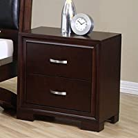 Elements Raven Nightstand in Espresso