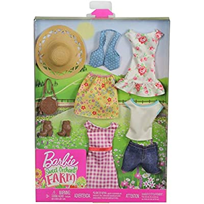 Barbie Secret Orchard Farm Clothing Outfit Accessory Pack Set: Toys & Games