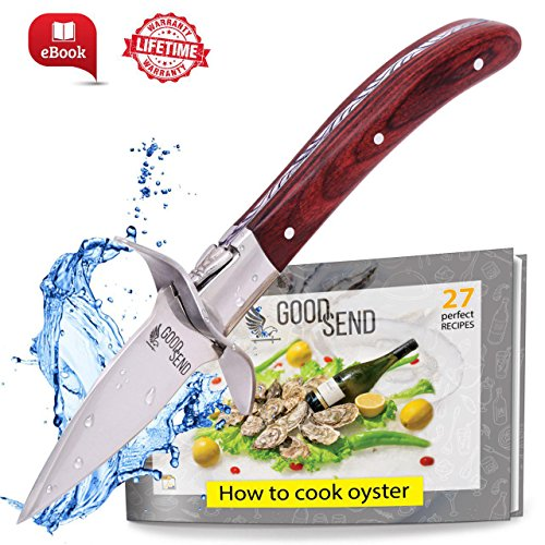 Oyster Knife - Oyster Shucking Knife - Oyster Shucker - Oyster Opener - Oyster Clam Pearl Shell Shucking Knife and Opening Tool – Includes 27 Recieps