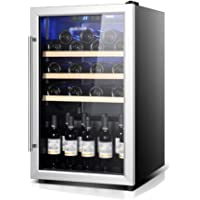Beverage Refrigerator and Cooler - 160L, 40DB, Drink Fridge with Glass Door, Can Cooler Soda, Beer or Wine - Small…