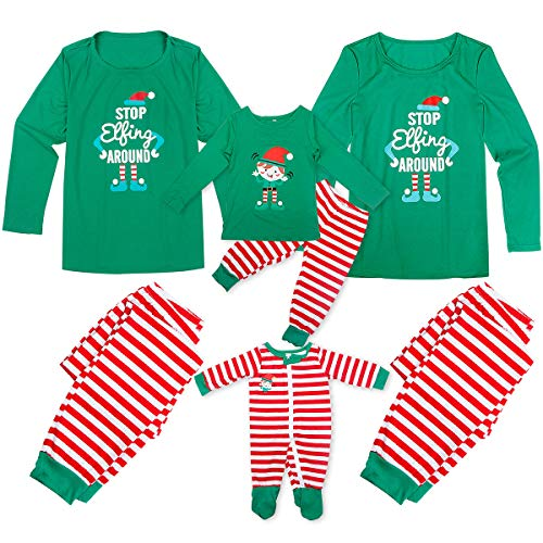 Dad Mom Baby Kid Family Matching Christmas