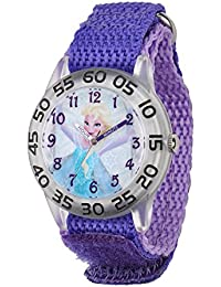 Kids' W001791 Elsa Time Teacher Watch with Purple Band