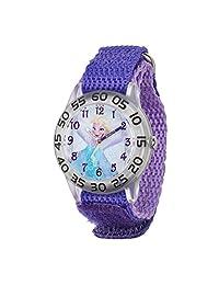Disney Kids  w001791 Elsa profesor de tiempo reloj con banda morada 5ce6ffc2b940