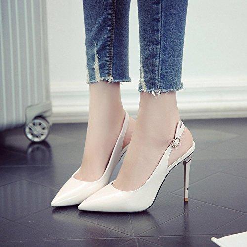 Chaussures Femmes Formel Sandales Bout Slingback Travail Cut Out Beige Stiletto De Talon Talons Pointu Mariage Hauts rwgFrq6