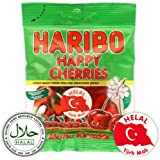 Haribo Happy Cherries/Mutlu-kirazlar, Helal/Halal, Gominolas de Fruta, 80g