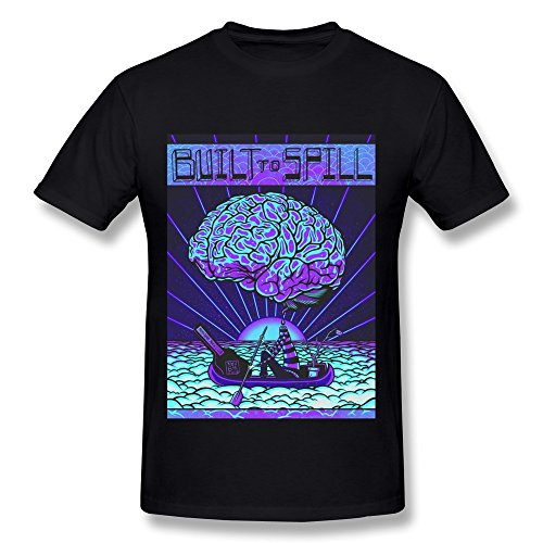 SHUNFA Men's Built To Spill T-shirt Black S