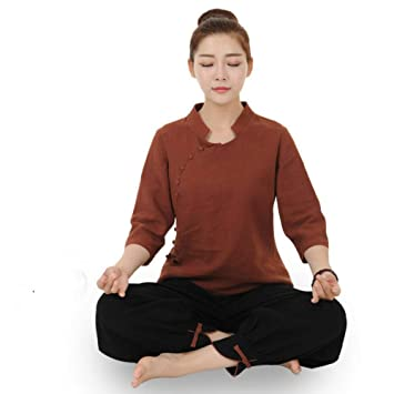 CYJJJK Pantalones de Yoga Más el tamaño 5XL Tela de Lino ...
