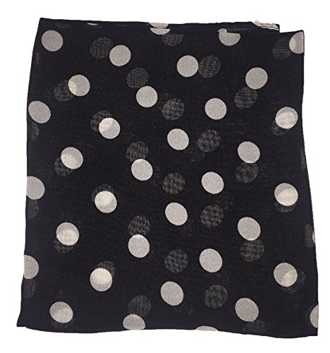 Hip Hop 50s Shop Toddler/Child Sheer Chiffon Square Scarf (Black Polka - One Dress Shops Square In