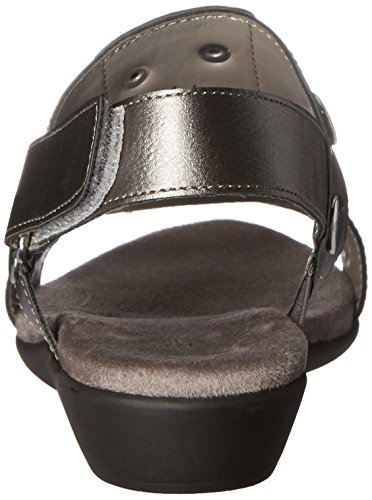 Aerosoles Womens AT Heart Wedge Sandal Pewter Combo G2ylp