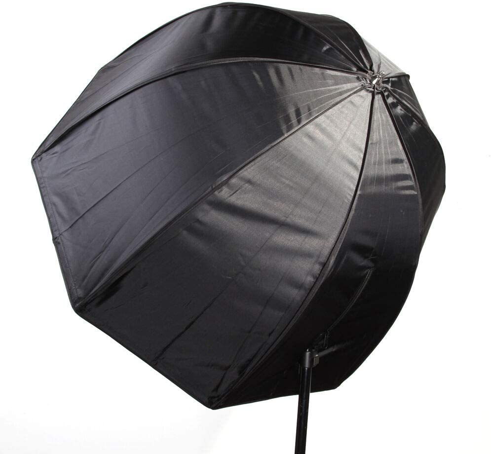 Runshuangyu 80cm/32 inch Octagon Umbrella Softbox Reflector for Speedlight Flash Light Studio Photo Shoot Photography, Collapsible - Black & Silver