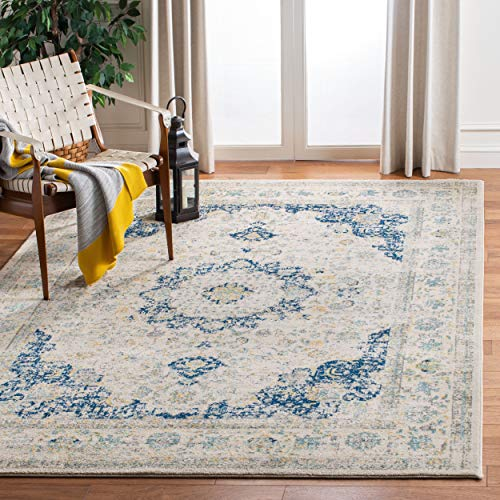 Safavieh Evoke Collection Vintage Oriental Ivory and Blue Area Rug (8' x 10')