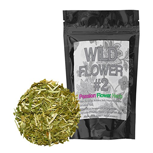 Dried Passion Flower Herb, Wild Flower #2 Herbal Dried Tea, Leaf, Herb (4 ounce)