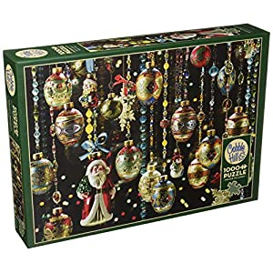 Cobblehill 80140 1000 Pc Christmas Ornaments Puzzle Vari