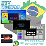 IPTV Brazil Renew Service 16 Digit Activation Code for Activate Portuguese Version of A1 A2 HTV 2 3 5 IPTVPLUS IPTV 5 6 One More Month for Free, Totally 13 Months