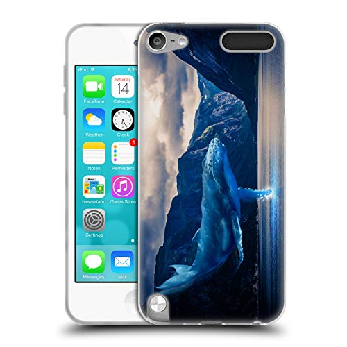 Official Dave Loblaw Skating Whale Soft Gel Case Compatible for Apple iPod Touch 5G 5th Gen (Skating Ipod 5 Cases)