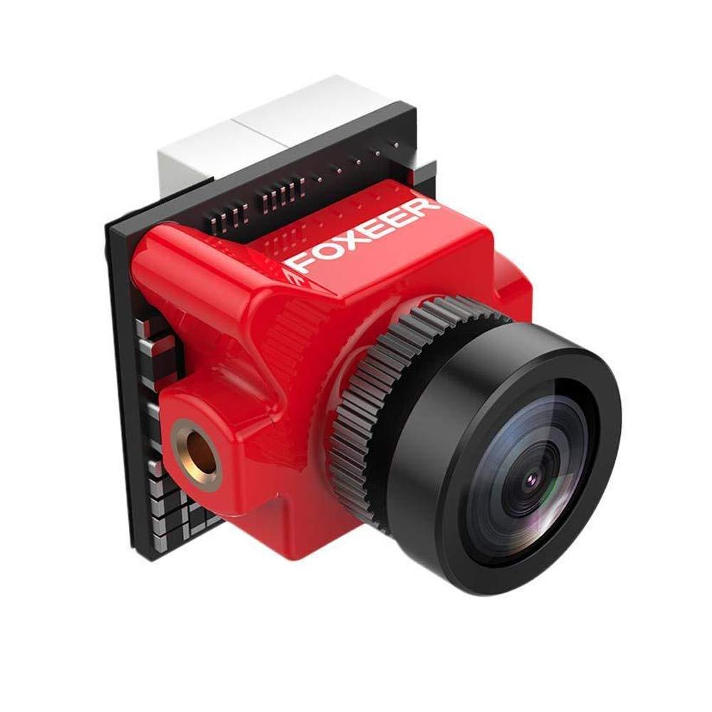 Foxeer Predator Micro V3 FPV Camera 1.8mm Lens 4:3/16:9 PAL/NTSC switchable Super WDR OSD 4ms Latency Red N-FACTORY-DE